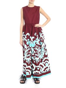 Valentino - Burgundy jumpsuit with contrasting print