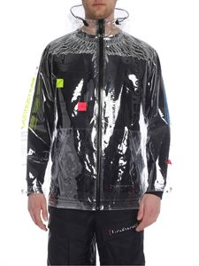 Marcelo Burlon - Transparent fabric Lettering long wind jacket