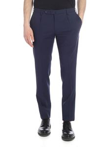 Incotex - Blue trousers with slit pockets
