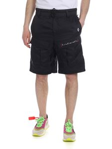 Marcelo Burlon - Black Braille shorts