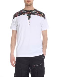 Marcelo Burlon - White Light Fluo Wings T-shirt