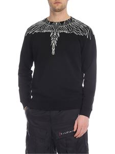 Marcelo Burlon - Black Neon Wings crew neck sweatshirt