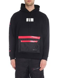 Marcelo Burlon - Black Braille Label Pocket Hoodi sweatshirt