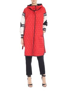 Ermanno Scervino - Red down jacket with leather details