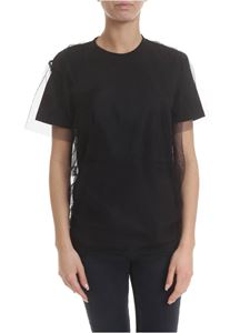 MSGM - Cotton and tulle t-shirt in black