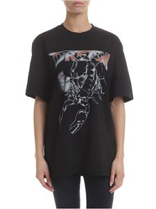 MSGM - T-shirt in black with Dream print