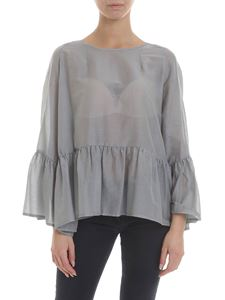 Jucca - Silk blend blouse in grey