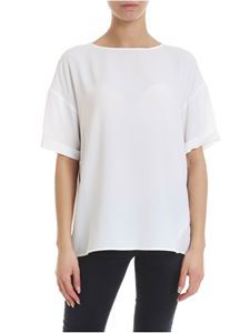 KI6? Who are you? - Silk blend T-shirt in white