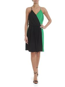 MSGM - Viscose dress in black and green