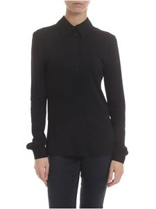 MSGM - Stretch viscose shirt in black