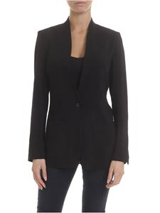 Jucca - Stretch viscose jacket in black