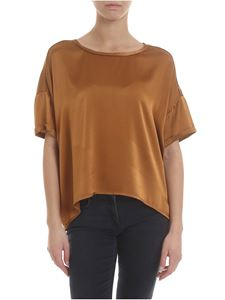 Jucca - Silk T-shirt in brown