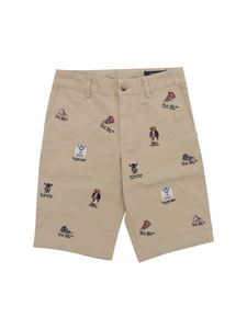 POLO Ralph Lauren - Bermuda in beige with all-over embroidery