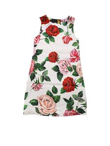 Dolce & Gabbana Jr - Floral sleeveless dress in ivory