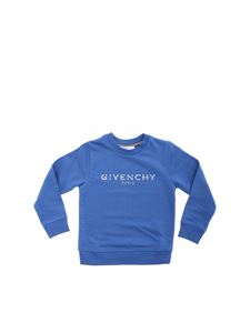 Givenchy - Sweatshirt in light blue with vintage logo