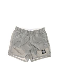 Stone Island Junior - Boxer swimsuit in gray