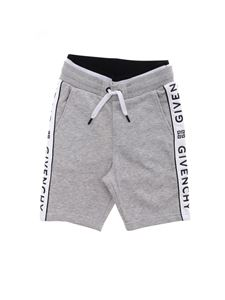 Givenchy - Shorts in gray with side logo band
