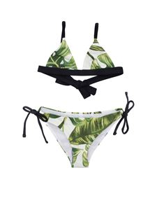 MC2 Saint Barth - Bikini Jumbe Leaves verde