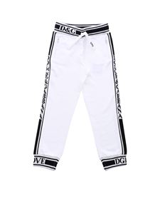 Dolce & Gabbana Jr - Pants in white with contrasting logo