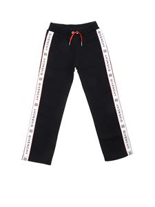 Givenchy - Trousers in black with logoed bands