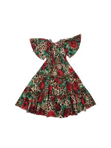 Dolce & Gabbana Jr - Animalier and roses printed dress