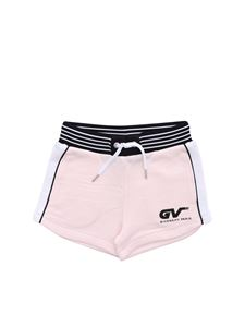 Givenchy - Front logo print shorts in pink