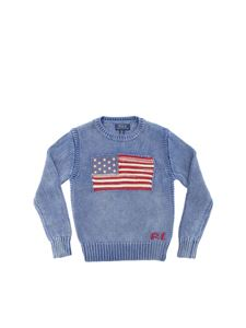 POLO Ralph Lauren - USA flag pullover in blue melange