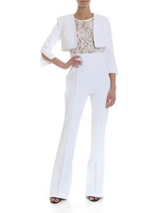 Elisabetta Franchi - White jumpsuit with lace top
