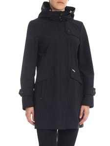 Woolrich - Black Fayette overcoat with hood