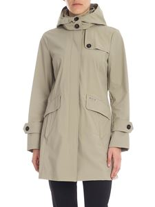 Woolrich - Fayette hooded overcoat in sand color
