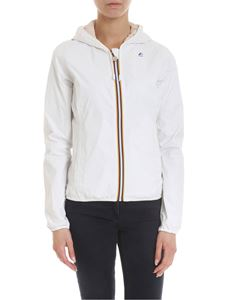 K-way - Lily Plus Double reversible jacket in white