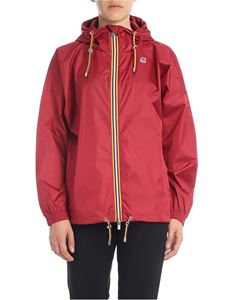 K-way - Marie Poly jacket in dark red