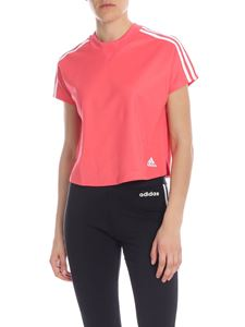 Adidas - T-shirt in pink technical fabric