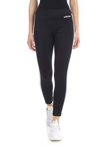 Adidas - Leggings in black with three white stripes