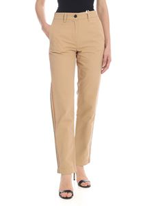 Tommy Hilfiger - Sand-colored trousers with side stripes