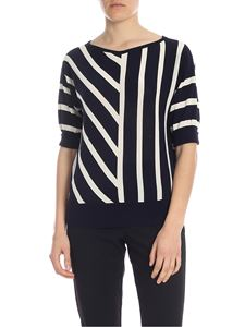 Manila Grace - Blue and white striped sweater