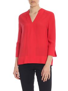 Tommy Hilfiger - Red blouse with V-neck