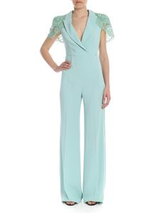 Elisabetta Franchi - Aquamarine jumpsuit with lace details