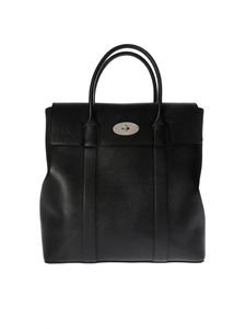 Mulberry - Tall Bayswater bag in black