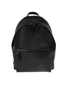 Mulberry - Black leather backpack with Mulberry logo