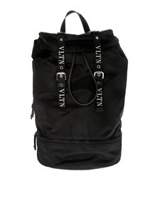 Valentino - VLTN backpack in black nylon
