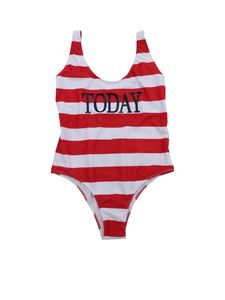 Alberta Ferretti - Today swimsuit in red and white stripes