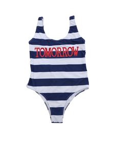 Alberta Ferretti - Tomorrow swimsuit with white and blue stripes
