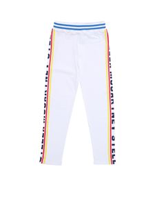 Stella McCartney Kids - White sweat pants with branded bands