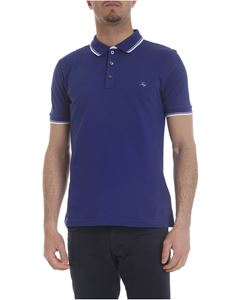 Fay - Royal blue stretch cotton polo