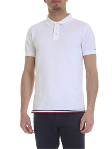 Tommy Hilfiger - White polo with tricolor detail