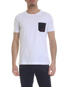 Fay - White T-shirt with contrasting pocket