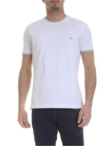 Fay - White T-shirt with Fay logo embroidery