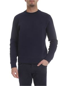 Lacoste - Blue sweatshirt with logo patch