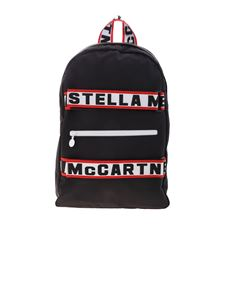 Stella McCartney Kids - Black backpack with branded bands